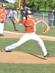 by: John Brewington SOLID PITCHER—Scappoose's Hunter Holmason went over four innings on the mound in Scappoose's 8-1 win over Wilshire-Riverside