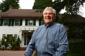 by: Vern Uyetake West Linn volunteer Mike Watters said he loves helping out his community through projects such as his efforts at the McLean House, pictured here. Watters will serve as parade grand marshal on Saturday.