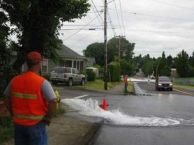 by: RAYMOND RENDLEMAN Milwaukie crews are flushing city water lines through next week to keep the pipes clear.