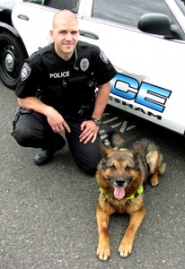 by: Lauren Gold Nico, 11, has been working with the Gresham Police Department for 9 and a half years, and with Officer Jared McGowan since January 2004. Nico will retire this month.