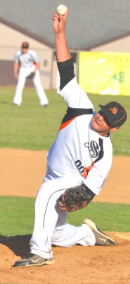 by: John Brewington PITCHING —Lionel Sandoval is one of four Scappoose pitchers seeing a lot of action at the Little League Juniors state tournament this week.