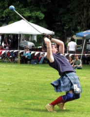 by: Lauren Gold Jason Montgomery of Gresham competes in the light hammer event, one of eight at this year's Portland Highland Games in Gresham.