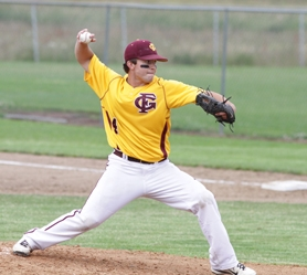 by: Chase Allgood Forest Grove's Lee Holscher delivers a pitch during last week's game against Southridge.