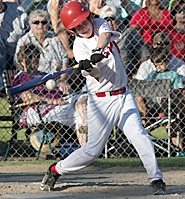 by: Miles Vance BIG HITTER — Murrayhill's Tanner Dawson (shown here at district) hit a grand slam in the state championship.