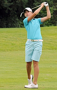 by: ERIC YAILLEN ON TARGET — Beaverton's Gigi Stoll came from behind and nearly won the Oregon Junior Stroke Play Championship before settling for second.