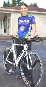 by: John Brewington  SARAH HAVLIK—Local bicycle racer will compete at nationals in Bend at the end of August.