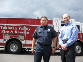 by: RAY PITZ <b>HEADING OUT</b> &#8211; Rudy Oliveros and Howie Weaver are retiring after long and distinguished careers with Tualatin Valley Fire &amp; Rescue.