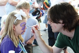 by: Photo courtesy of Forest Grove Police Department Face-painting, music and an inflatable castle will draw crowds Tuesday to Forest Grove's National Night Out festival, which police officers hope will repeat the success of last year's festivities (above).