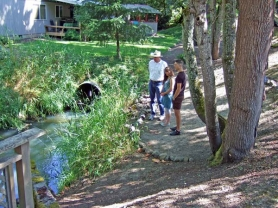 by: STEVE BERLINER Three local watersheds, including River Forest Creek in Oak Grove, (shown above) were the focus of a Saturday tour sponsored by the North Clackamas Urban Watersheds Council.