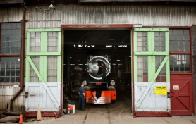by: CHRISTOPHER ONSTOTT Portland's three historic steam locomotives are currently hidden away from the public in a Southeast Portland rail yard – but not for long. They will be on display in the museum being planned near OMSI.
