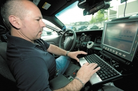 by: Christopher Onstott Fairview police Sgt. Bernie Meyer has had trouble with the replacement 9-1-1 computer dispatch system in his police cruiser.