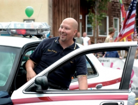 by: File photo Troutdale Police Officer Mike Kellogg was the 2005 SummerFest parade grand marshal.