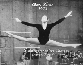 by: Courtesy photo 1978: Gymnastics star Cherie Kines won a state championship for Forest Grove High School in the uneven parallel bars in 1978. Kines, who is currently teaching third grade in Washington, is being inducted into the school's athletic Hall of Fame later this summer.
