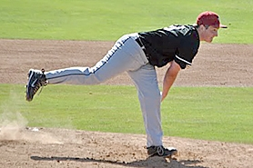 by: submitted photo BRING IT — Mound Time's Parker Stidham delivers a pitch in the Babe Ruth regional tournament.