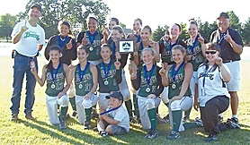 by: submitted photo THE BEST — The 12A Oregon Breeze poses with their trophy after winning the ASA state title.
