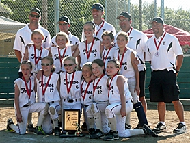 by: submitted photo TERROR-IFFIC — Members of the Tualatin Terror include (top row, from left) Coach Penny, Coach McPherson, Coach Newton, Coach Laird, Coach Gomez, (middle row)  Danielle Nickel, Marin Penny, Eva Newton, Megan Talbert, Andrea Gomez, (front row)  Kayla Laird, Reagan Holmes, Hailee Swiger, Maddy Schweimer, Gabby Pinto and Lilly McPherson.