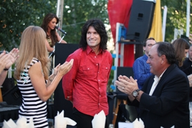 by: Photo courtesy of Pacific University KISS guitarist and Beaverton native Tommy Thayer poses before a concert last Sunday night that benefited Pacific University athletics.