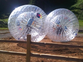 by: submitted photo The hamster balls provide a sort of human demolition derby at the Mount Hood Adventure Park.