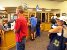 by: RAYMOND RENDLEMAN Lines were long and computers all occupied on a recent summer afternoon at the Ledding Library in downtown Milwaukie.