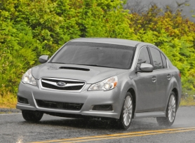 by: Courtesy of Subaru With its turbocharged engine, functional air scoop and all-wheel-drive system, the 2011 Subaru Legacy GT is ready to challenge the elements.