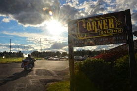 by: Vern Uyetake The Corner Saloon in Stafford has been the gathering place for motorcycle enthusiasts every Wednesday night during the summer for 10 years.