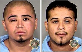 by: Courtesy of MCSO Javier Santa Cruz-Ramirez, left, and Erick Marciel, both 20-year-old Gresham residents, were taken into custody Sunday, Aug. 14, after a Portland man was stabbed during what police say was a gang-related incident.