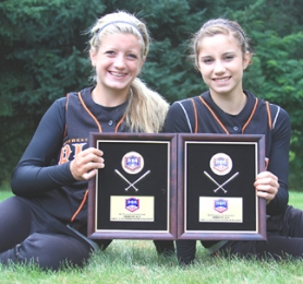 by: Submitted Photo THIRD NATIONALLY–St. Helens' freshmen Mariah Mulcahy and Michelle Sass were on the NW Blaze team that finished third in the Western Nationals.