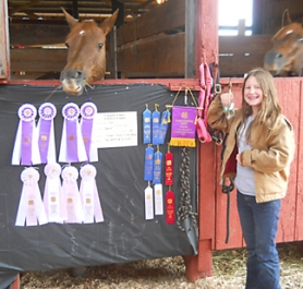 by: Submitted Photo FAIR CHAMP—Warren's Lilly Grau won numerous awards in Trail and Western Equitation at the Columbia County Fair last month.