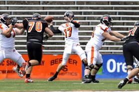 by: submitted photo Lomax starred as quarterback at Lake Oswego High School and is now third on the depth chart for Oregon State, behind Ryan Katz and Cody Vaz.