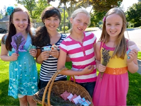 by: SUBMITTED PHOTO From left to right: Lauren Henning, 10; Sydney Steinberg, 10; Lauren Jones, 9; and Emily Henning, 10 will sell lavender for the third year in a row on Aug. 23 from noon to 6 p.m. at the corner of Vista Ridge and Coeur D Alene drives in West Linn.