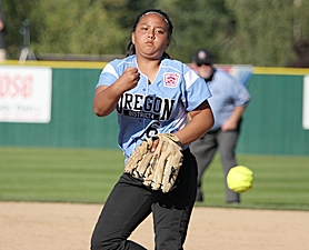 by: Miles Vance AT THE SERIES — Willow Creek pitcher Isabella Carino gets things going in her team's Little League World Series opener against Wilkes County.