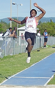 by: submitted photo FLYING HIGH — Royal Black soars in the long jump at the USATF Region 13 Junior Olympics Intermediate boys decathlon in Spokane, Wash., in early July.