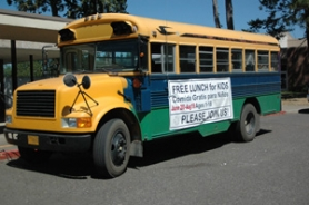 by: Jeff Spiegel The bus, complete with storage space and shelves in the back, visited four locations every weekday during the summer.