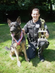 by: SUBMITTED PHOTO Officer Bryan McMahon and Kai take part in at the Washington County K-9 competition recently in Hillsboro.