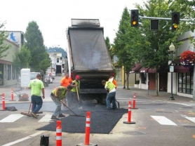 by: RAYMOND RENDLEMAN Brix Paving began the first phase of returning Main Street to two-way traffic last week.