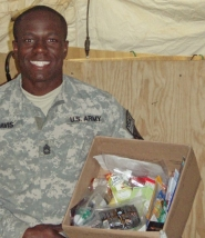 by: Submitted photo GRATEFUL TROOPS — Troops stationed overseas send Jennifer Fair photos like this as a thank you for receiving boxes filled with food, toiletries and other items from home.