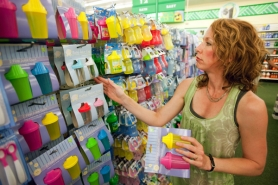 by: CHRISTOPHER ONSTOTT Renee Hackenmiller-Paradis, environmental health program director for the Oregon Environmental Council, spots some sippy cups at a Southeast Portland Dollar Tree store that she suspects contain bisphenol A or BPA, which many studies indicate is a health hazard. A Dollar Tree official was skeptical the cups contain BPA but says those cups were made in 2008, the year before the company began testing products for BPA.