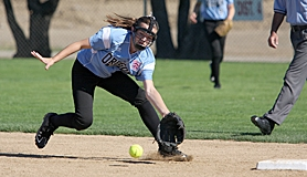 by: Miles Vance GOING ALL-OUT — Willow Creek shortstop Emma Gordon stretches to make a play during her team's World Series finale against Westchester-Del Ray last week.