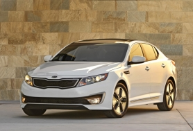 by: Courtesy of Kia Motors There's no need to sacrifice while saving gas in the 2011 Kia Optima Hybrid.