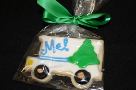 by: Lisa K. Anderson Mountain Express Line cookies were a highlight with those who attended the 100,000th rider celebration Thursday.