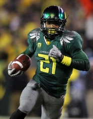 by: Jonathan Ferrey Running back LaMichael James, a 2010 Heisman Trophy finalist, returns as the featured player in an array of athletic offensive talent for the Oregon Ducks, who have some holes to fill in their quest to win the Pacific 12 Conference football title.