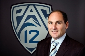 by: COURTESY OF PAC-12 CONFERENCE Larry Scott, who is two-plus years into his run as commissioner, says he wants teams from the Pac-12 Conference to become involved in international play.