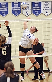 by: Miles Vance HERE IT COMES — Valley Catholic senior outside hitter Tori Kemper hopes to lead her team back to the Class 3A state tournament in 2011. Kemper, a first-team all-Lewis & Clark League selection in 2010, led the Valiants to fourth place at state a year ago.
