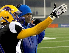 by: Tribune File Photo Jefferson High School coach, shown here in the 2009 5A championship game against Hillsboro, is trying to make sense of a Friday night shooting at a bus stop that wounded one of his players.