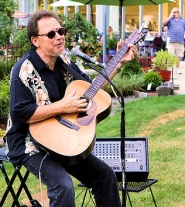 by: David F. Ashton Jazz recording artist Lloyd Jones entertains at the Westmoreland Union Manor Block Party.