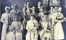 by: Courtesy of St. Agatha's Parish A picture of the first graduating class from St. Agatha's School in 1913.