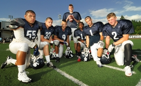 by:  VERN UYETAKE From left, Turner Young, Grant Taylor, Zach Walen, Alex Matthews, Steven Long, Stevie Coury and Alec Torkelson head up another strong Lake Oswego team this year that is eyeing a league title and potentially more.