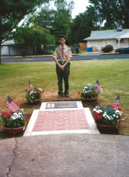 by: Submitted photo Southridge High School graduate David Griffin created a Sept. 11, 2001, memorial in Beaverton's Memorial Park in 2002 for his Eagle Scout project.