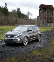 by: NORTHWEST AUTOMOTIVE PRESS ASSOCIATION The Sportage SX AWD was picked as the Best Affordable SUV at the 2011 Mudfest competition.