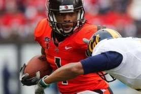 by: CHRISTOPHER ONSTOTT Jacquizz Rodgers, carrying the ball for Oregon State in last year's Cal game, made his NFL debut on Sunday with the Atlanta Falcons.